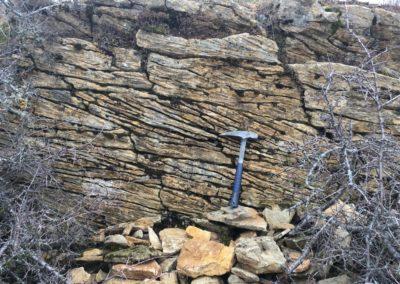 Figures sédimentaires dans calcaires gréseux Hauterivien (135 Ma)